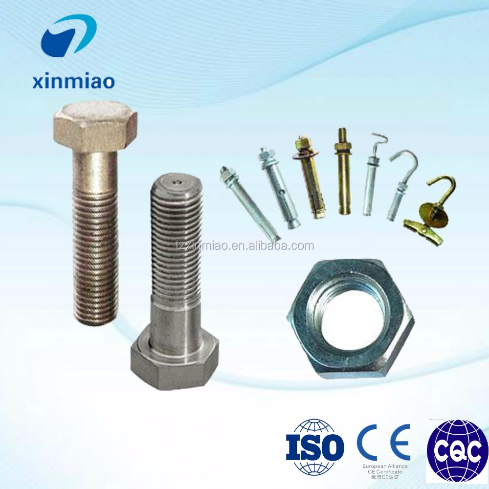 wholesales 724L and 725LN bolt and nut with various dia