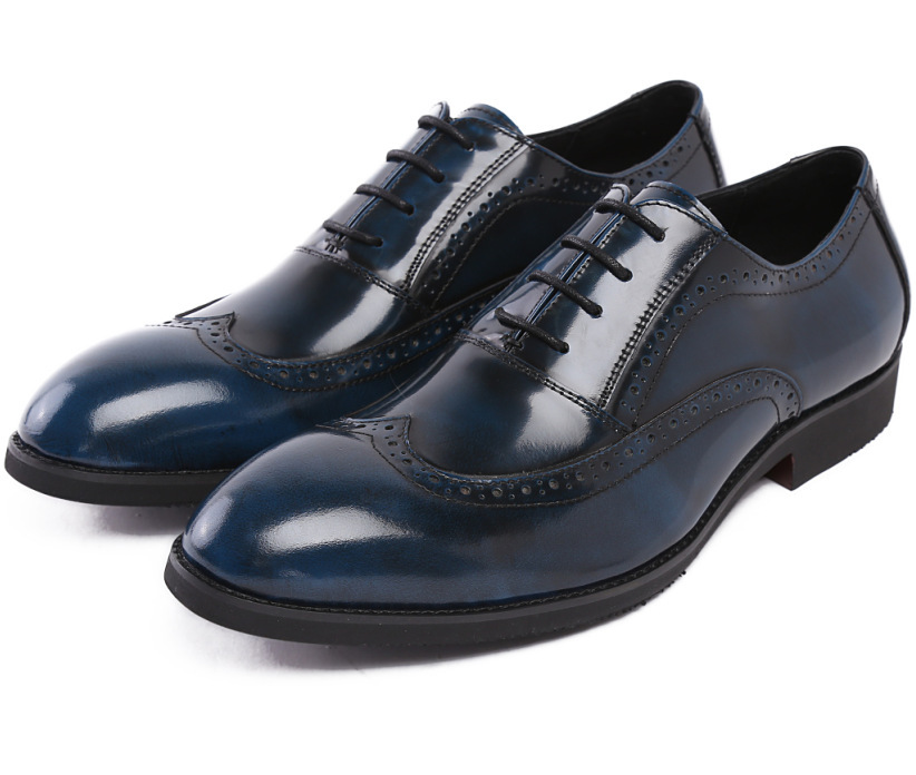 2015 italian luxury brand mens dress shooes genuine patent leather top quality fashion blue black secret solid party for men 551