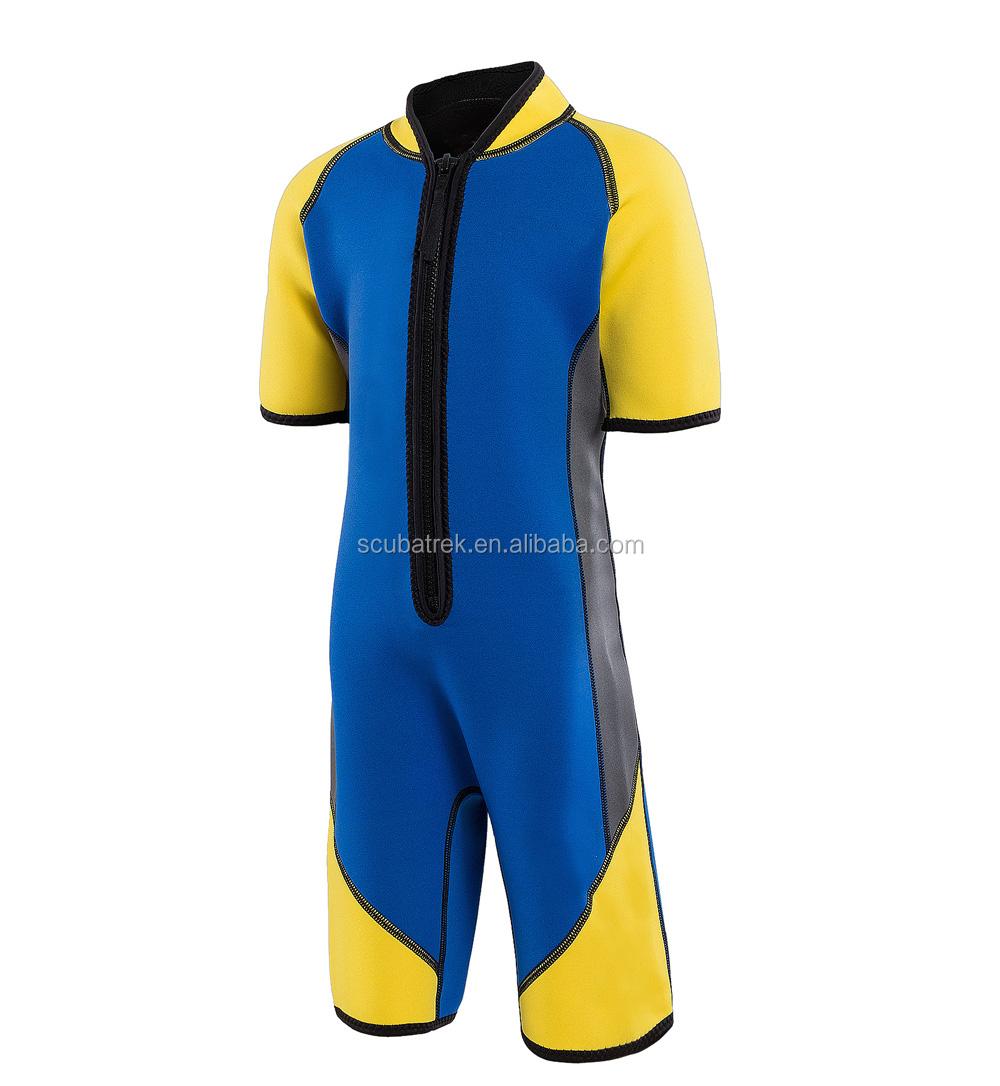 76e77c197670b Voile vêtements de plongée en néoprène combinaisons de natation enfants  plongée costume enfants combinaison vêtements maillots