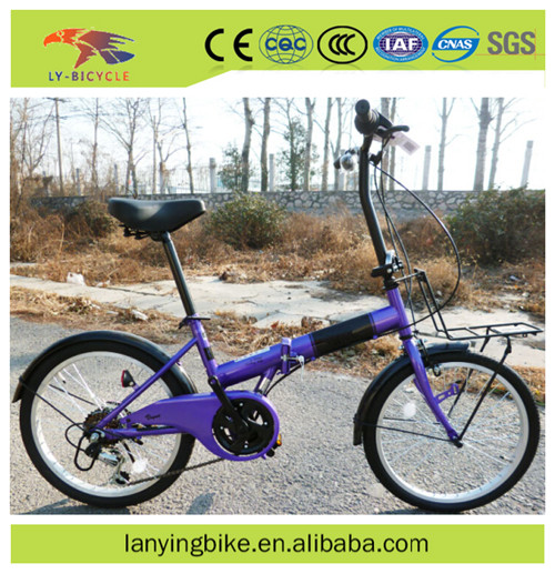 2016 fashionable hot selling 20 inch 6 speed folding bicycle / foldable bike