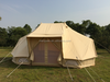 6x4m safari twin poles cotton canvas tent outdoors with extra high door