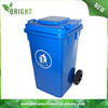 Square outdoor garbage container for sale hdpe plastic trash can, street recycle dust bin with lid