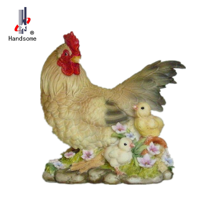 5 Small Resin Rooster Decor Animal
