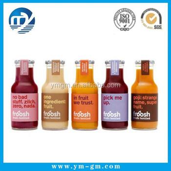 Plastic Fruit Juice Bottle Label Sticker Beer Label Sticker Buy
