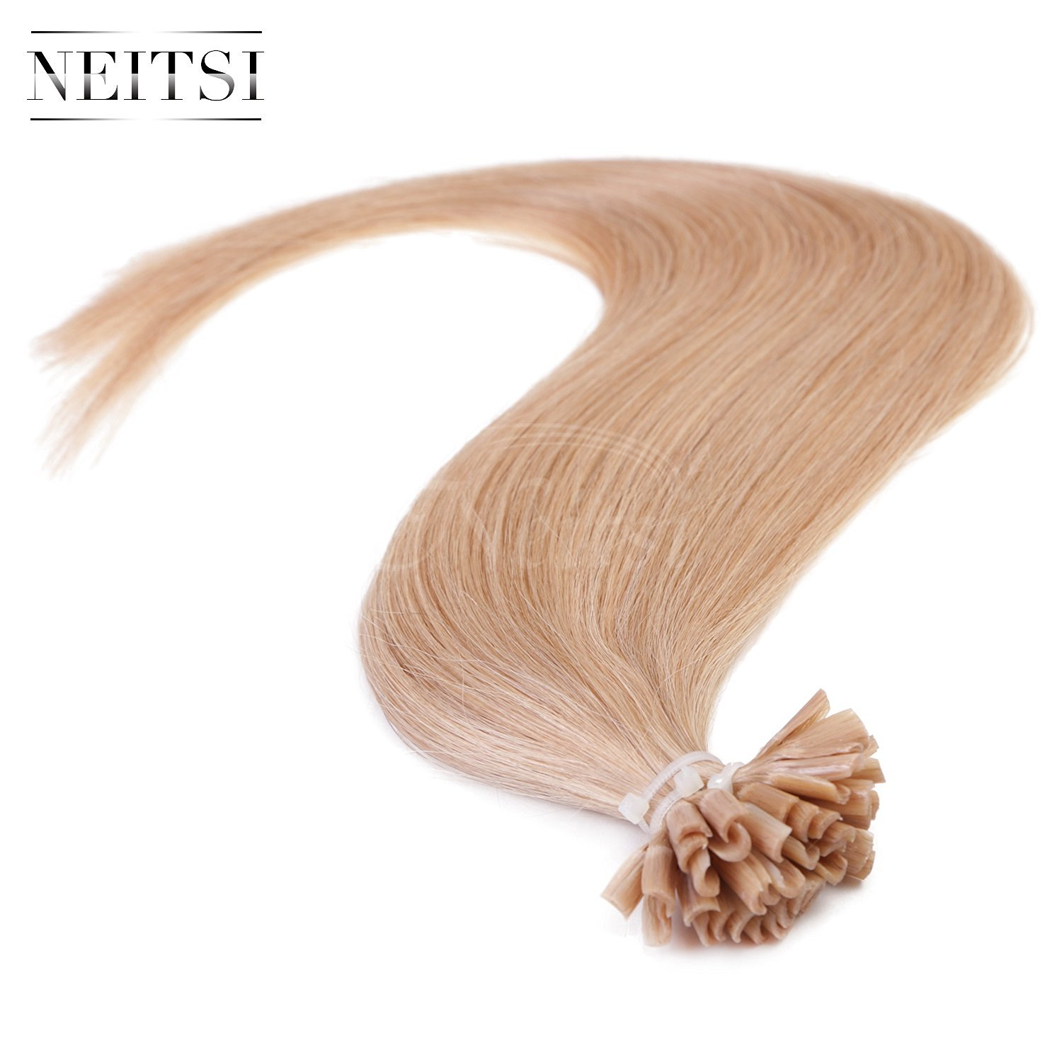 "Neitsi® 20"" 25s/lot 1g/s 100% Remy Human Hair Nail U Tip Hair Extension (18#)"