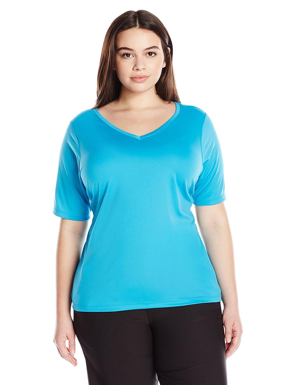 6db126bf372 Get Quotations · Kanu Surf Women s Plus-Size Solid UPF 50+ Swim Shirt  Rashguard