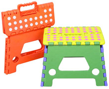 good quality plastic folding stool with spots stackable