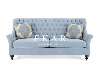European Modern Sofa Blue Fabric Chesterfield Salon Waiting 4 Seater Sofa -  Buy Salon Furniture Waiting Sofa,Chesterfield Loveseat Fabric ...