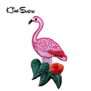 Chinese style embroidered bird patch applique embroidery