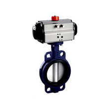 D671XJ 4 inch pneumatic actuator wafer butterfly valve