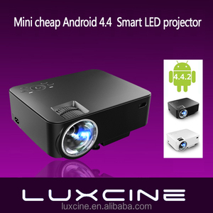 New arrival! PTP200C 2 in 1 LED Projector + TV BOX 2000 Lumens in Android WIFI Bluetooth Smart Beamer