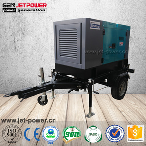 Trailer mobile diesel generator 25kva 20kw 15kva 12kw united power generator price for wholesale with wheels
