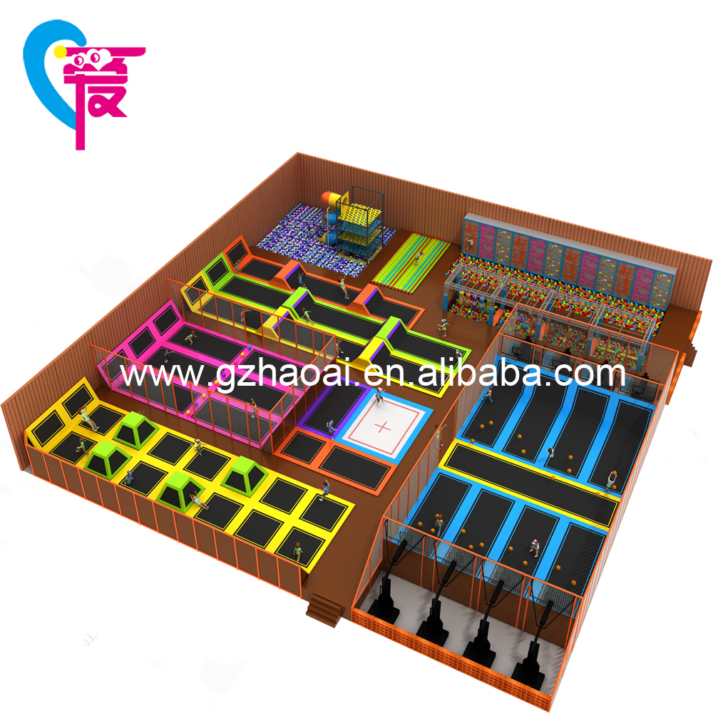 Commeirical Use Design Children Bungee Trampoline Theme Park For School Cheap Price For Sale