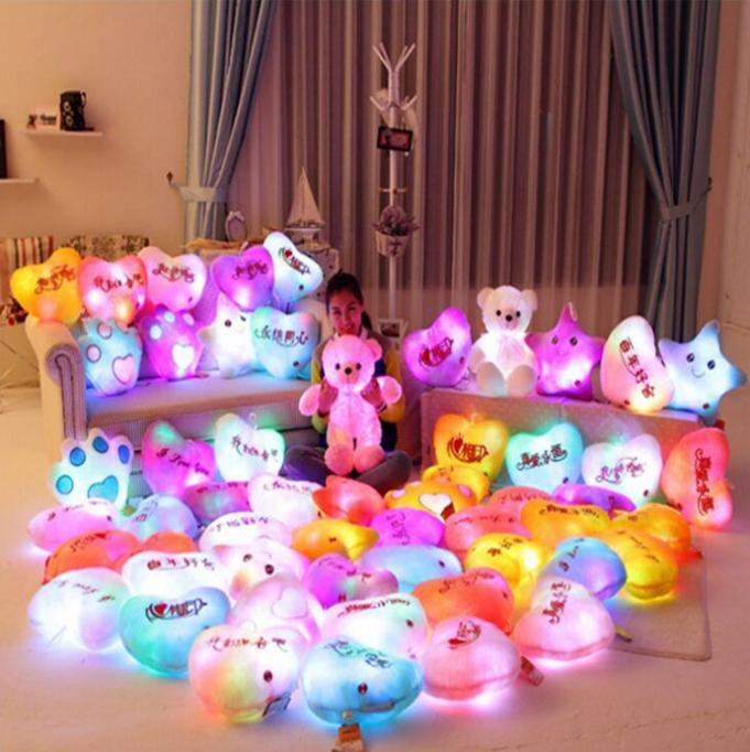 LED Luminous teddy bear and loving heart plush toys