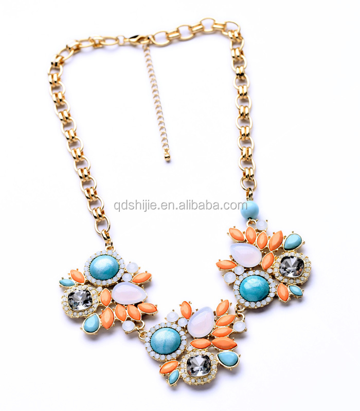 2014 Fashion Jewelry Charming Alloy Necklace Components
