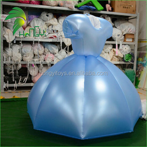 Inflatable Party Dress / Inflatable blue Skirt / PVC Inflatable Dress for Adult