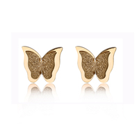 98475 Xuping 2019 earrings aretes jewelry, gold butterfly design girls stud earrings