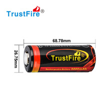 2012 TrustFire newest product 32650 li-ion battery highest 6000mah 3.7v with PCB cell