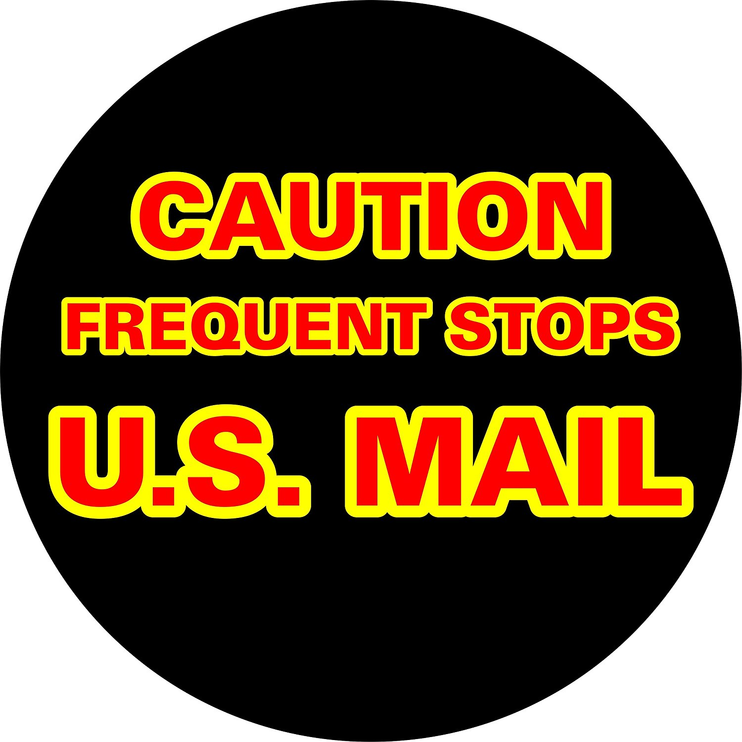 Caution US Mail Spare Tire Cover (Select popular sizes in drop down menu or contact us-ALL SIZES AVAILABLE)