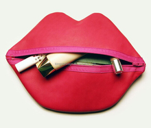 Leather Lips Makeup Bag