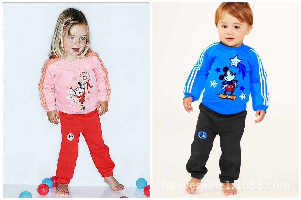61b939948 Get Quotations · Free shipping,Mickey Minnie sports leisure suit boys and girls  sets 2pcs sport clothing Kids