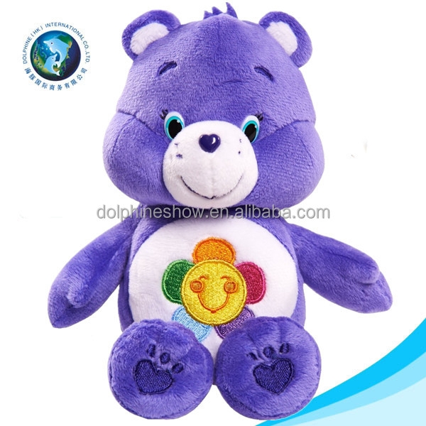 New wholesale stuffed purple teddy bear toy with logo fashion lovely soft toy plush care romantic bear