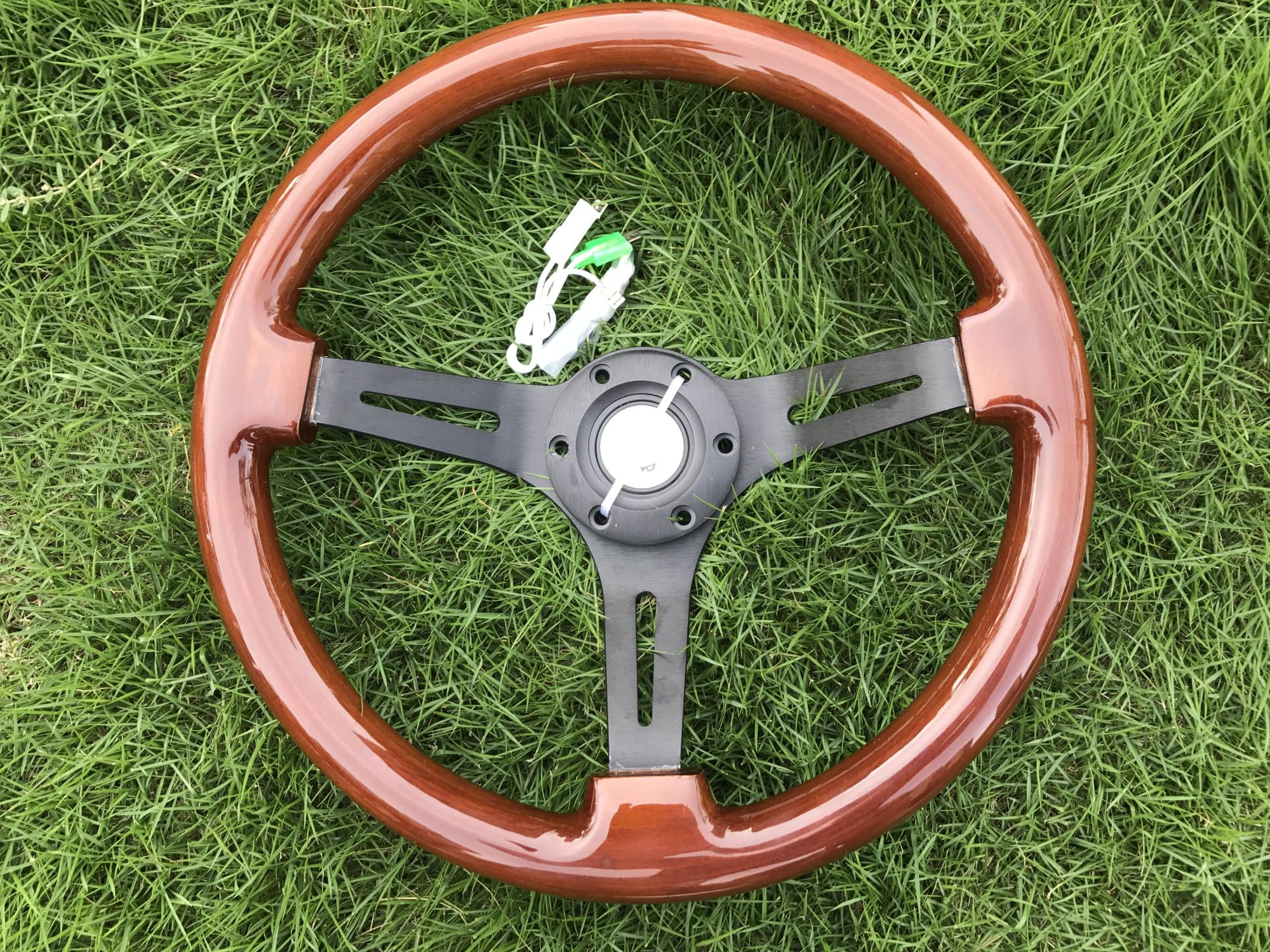 high quality 350MM 14inch Wood Phoebe steering wheel racing steering wheel three racing Phoebe steering wheel