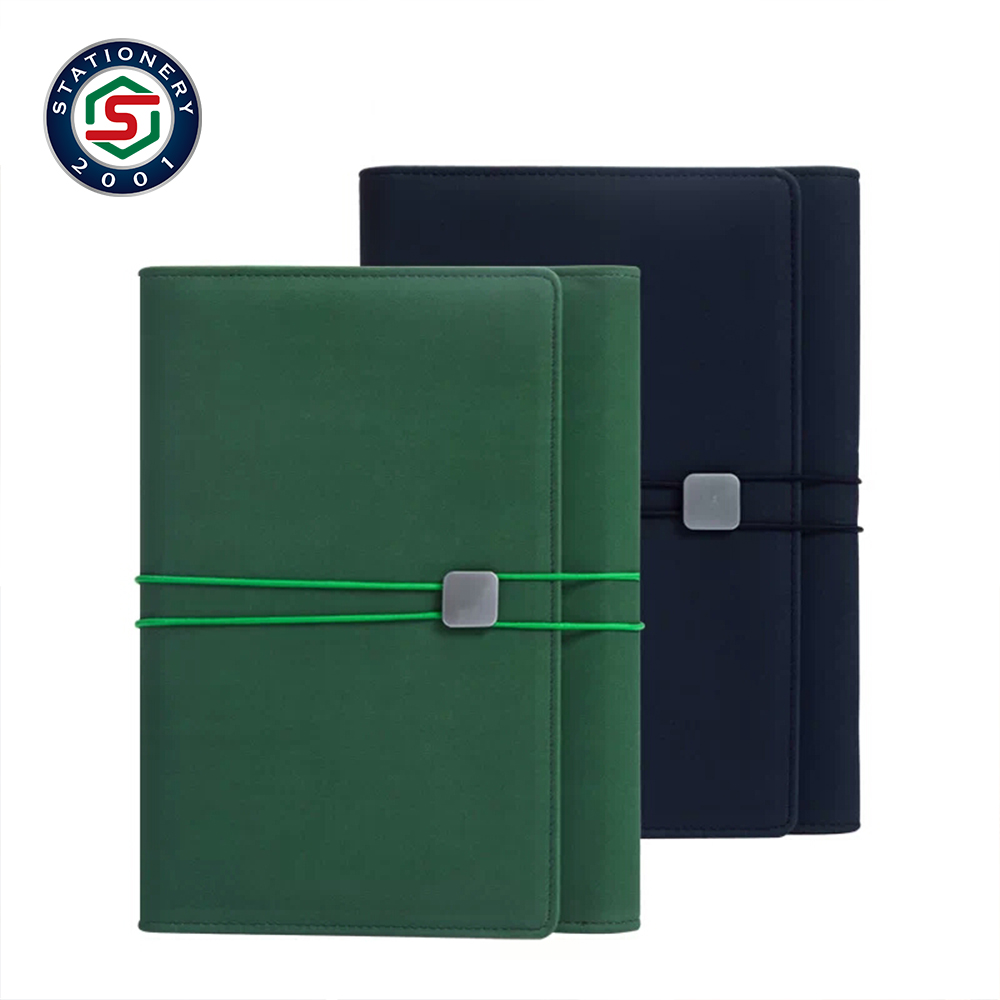 Fabric cover magnetic closure school notebook binder bound notebook