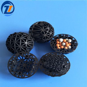 Aquarium Water Filter Media Different Size Bio Balls With Foam Core For Fish Farm And Koi Pond