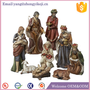 christmas decoration cheap resin christmas nativity set