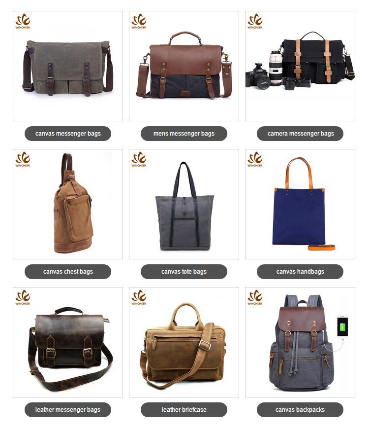 New arrival retro canvas laptop men shoulder bag mens messenger bags