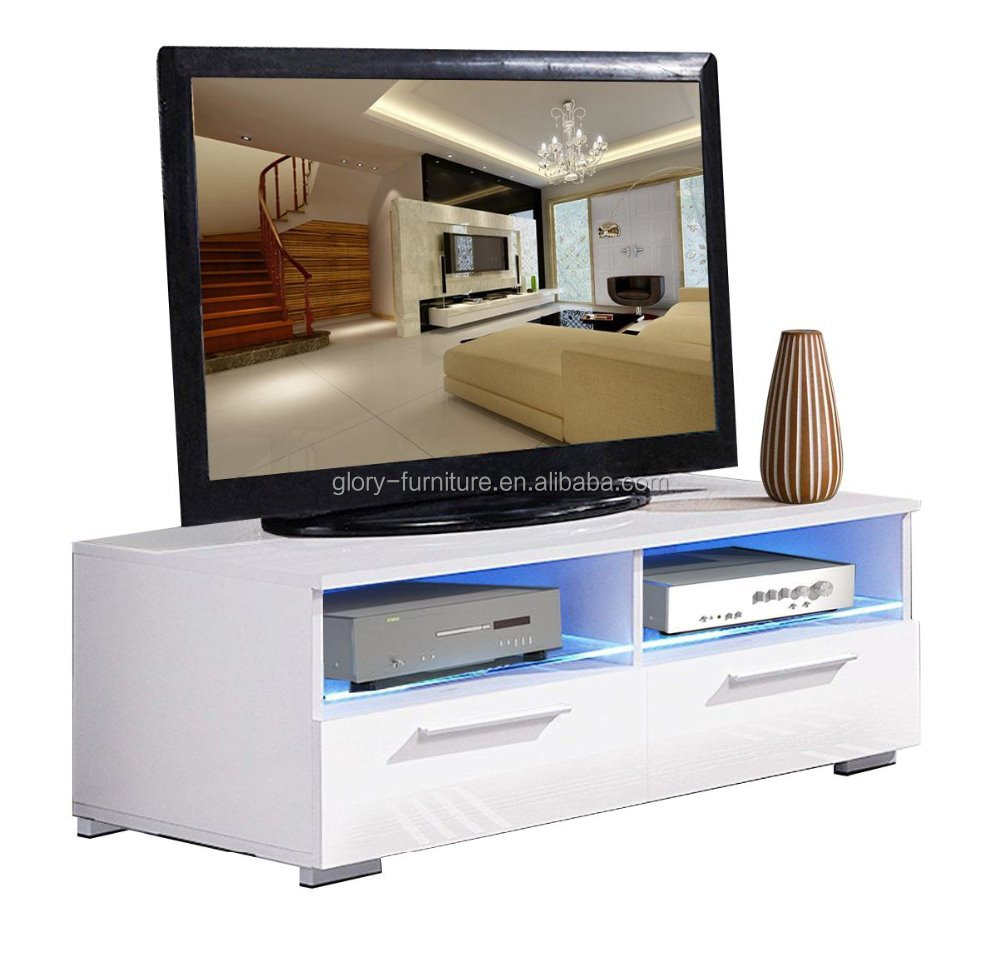 Modern Tv Cabinet Television Stand With Led Lights Entertainment