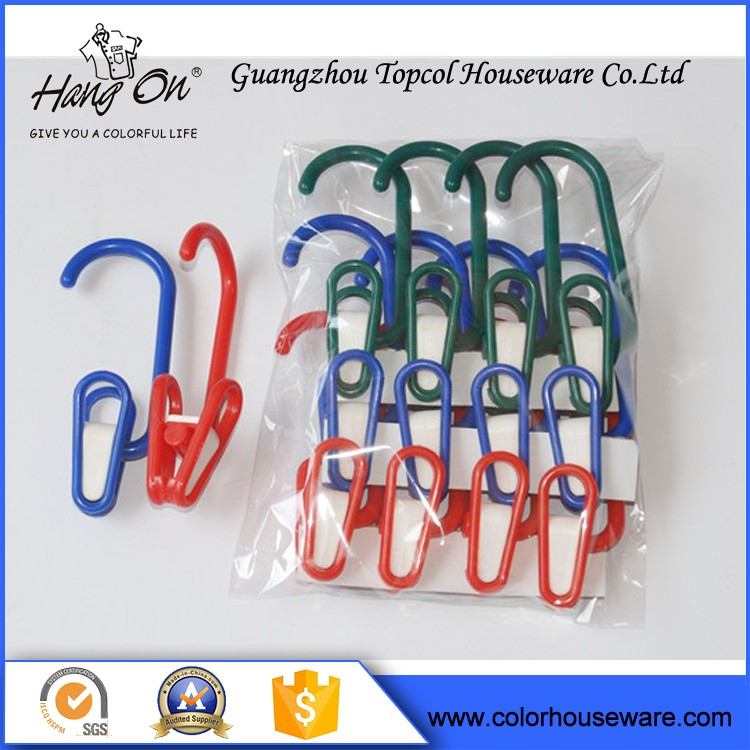 Plastic Hangers From Factory In China Laundry clamp clip for clother
