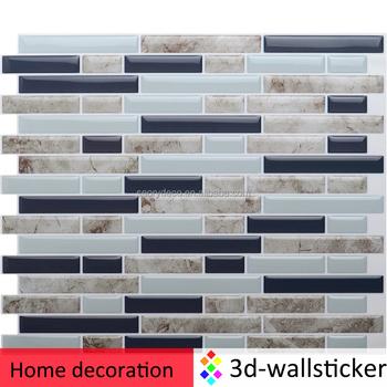 3d self adhesive wall tile peel stick backsplash smart mosaic sheet