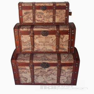2018 factory direct sell handmade wooden storage trunk