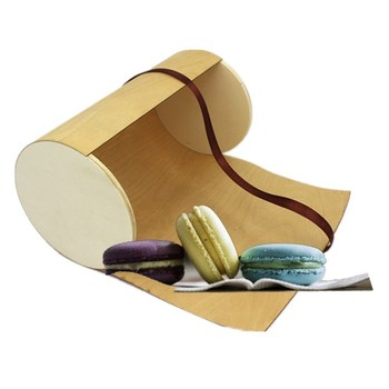 High quality birch veneer wood food box soft packing storage box