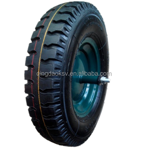 small pneumatic rubber wheel for wheelbarrow qingdao jiaonan air wheel wheelbarrow