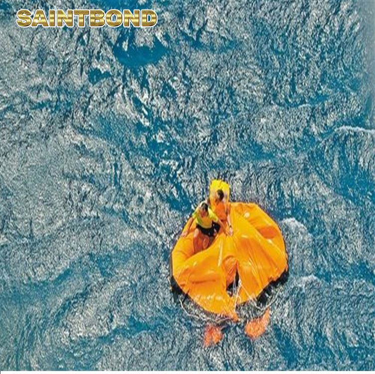 Used rafts 65 man rubber material liferaft marine boat ship use 10person life raft with 100 person