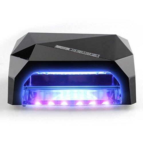 RioRand 36W Nail Dryer Professional Diamond Shaped CCFL & LED UV Nail Lamp (UV & LED 2 in 1 Nail Gel Lamp) Curing Nail Dryer for LED UV Gel Nail Polish nail tools - Black