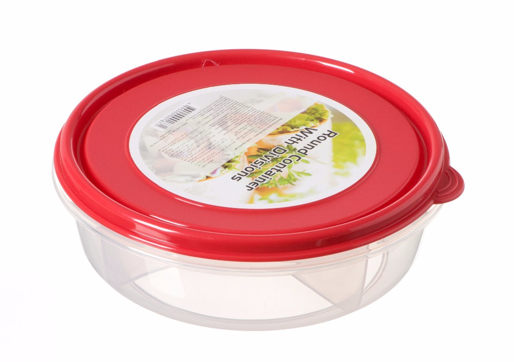 Amazon Hot Sales Clear Plastic Storage Box With Dividers Take Away