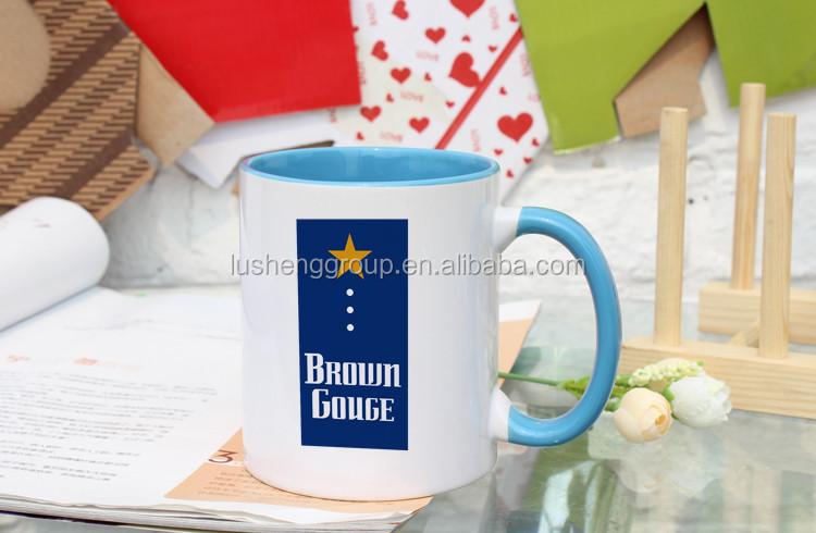 Custom Sublimation Printed Mug Promotional 11oz Ceramic Standard Coffee
