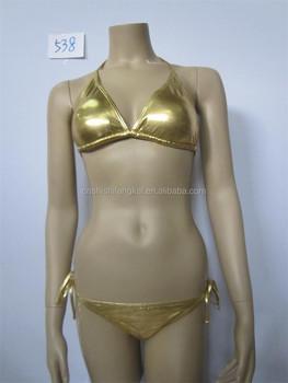 4104b0051e Sexy en nylon satiné polyester pas cher chaîne c string soie bikini maillot  de bain maillot