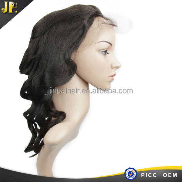 Wholesale 100% human virgin indian hair braided lace front wig