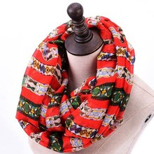 New arrival womoen quality high soft print circle loop funky custom logo infinity scarf