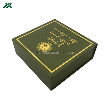 wholesale printed folding paper display tea box