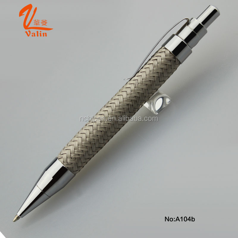 2016 unique outer looking metal steel wire ball pen