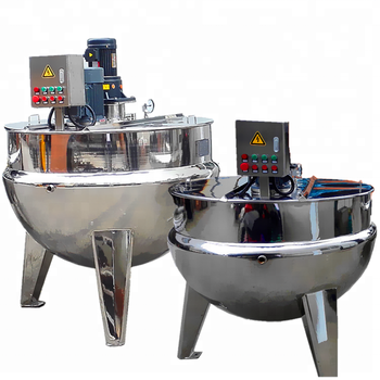 Stainless steel popular wenzhou 150L industrial steam heating double jacket kettle