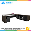 modern luxury black color executive desk office table design in 50mm thickness MFC board