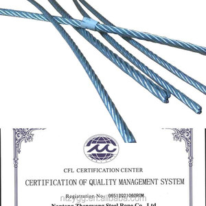 ISO Mill Test steel wire rope certificate