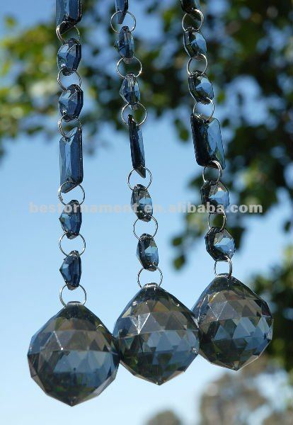 Crystal Garland with Glass Crystal Chandelier Balls
